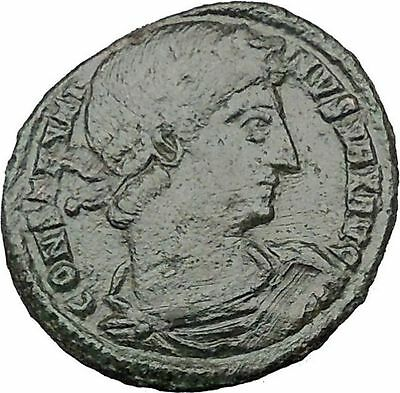 Constantine I The Great 330AD Ancient Roman Coin Lagions Glory of Army i32292