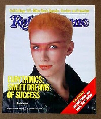 Eurythmics the 1983 ROLLING STONE MAG poster Annie Lennox UNUSED & MINT