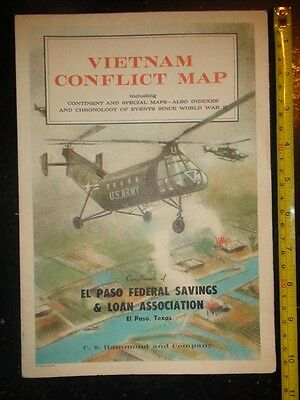 BB498 Vintage Ad C.S.Hammond and Co. Vietnam  War Conflict Map