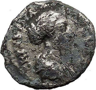 Crispina Daughter in law of Marcus Aurelius Ancient Silver Roman Coin i32320