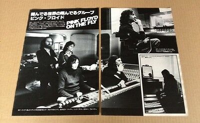 1978 Pink Floyd studio 3pg 5 photo JAPAN mag feature / clippings cuttings