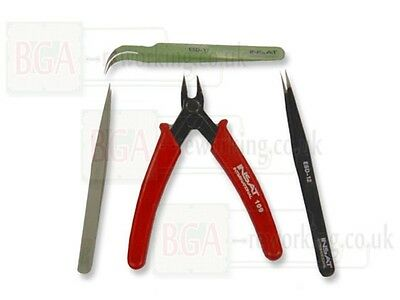 Insat Precision Side Cutters and Tweezers for BGA Rework