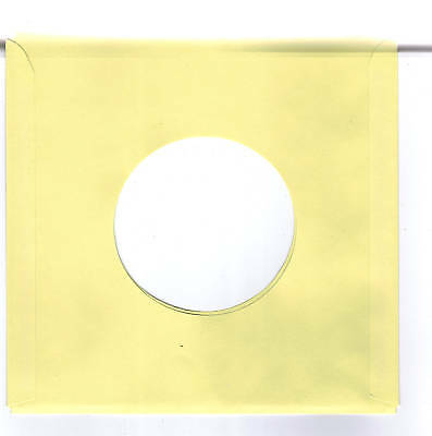 45rpm Paper Sleeves:  LOT of  THIRTY SOLID YELLOW record sleeves
