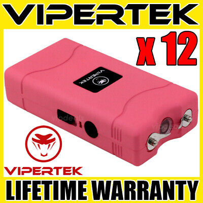 (12) VIPERTEK PINK VTS-880 Mini Stun Gun - Wholesale Lot