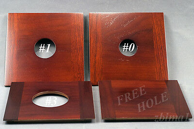 "1 Wooden Lens Board  6""x 6"" for 2D Eastman / B&J 8"" x 10""- Sol.Walnut/free hole"