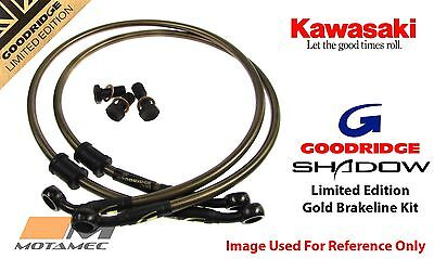 Goodridge GOLD For Kawasaki ZXR750 K1-L1 91-96 Race Front SS Brake Lines Hoses