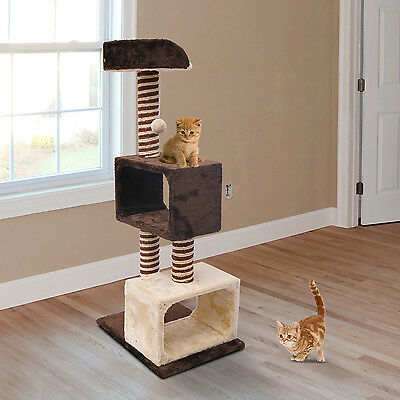 Cat Cats Tree Kitten Scratch Scratching Tree Post Toy Climbing Centre Sisal