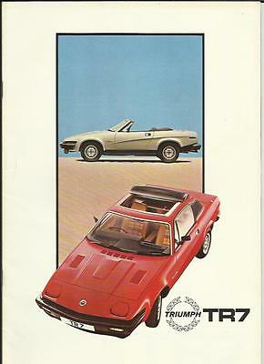 TRIUMPH TR7 DROPHEAD & FIXED HEAD SALES BROCHURE  EARLY 80's