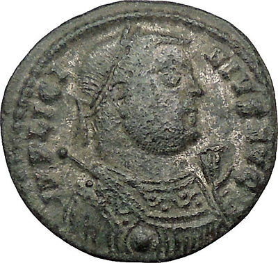 Licinius I Constantine The Great enemy Ancient Roman Coin Military Camp i32431