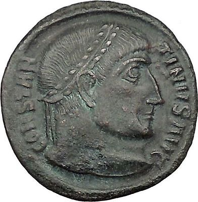 Constantine I The Great 320AD Ancient Roman Coin Wreath of Victory  i32436