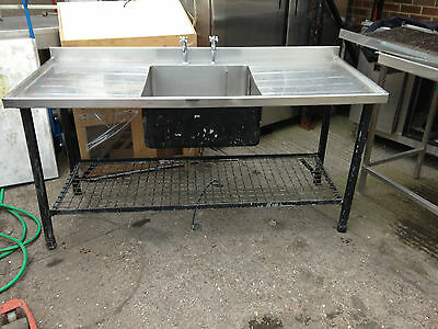 used stainless steel sink 1 bowl double drain