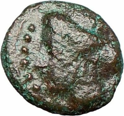 HIMERA Sicily 420BC Ancient Greek Coin Nymph & LAUREL WREATH of success i26268