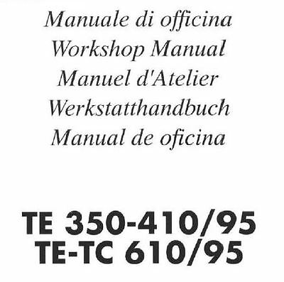 MANUALE OFFICINA HUSQVARNA TE 350 410 e TE TC 610 WORKSHOP MANUAL MULTILANGUAGE