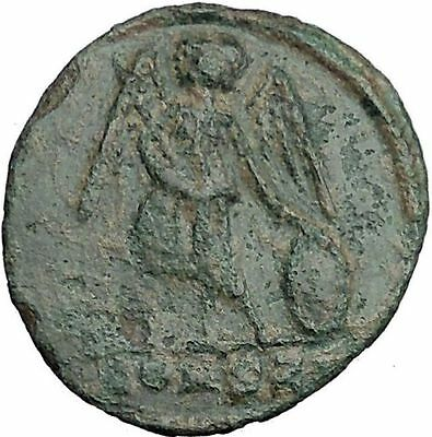Constantine I The Great founds Constantinople Ancient Roman Coin Nike  i32501