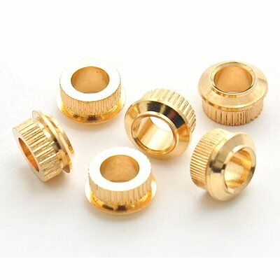 Kluson MB05G 6x Adapter Bushings for vintage to modern. 6.3mm-10mm, Gold