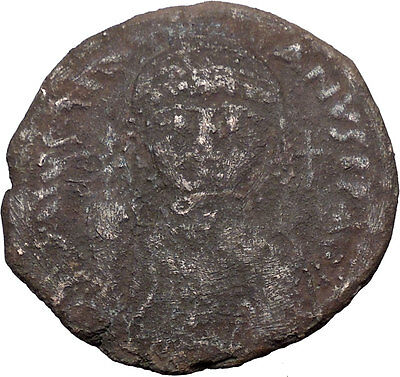Justinian I 527AD HUGE Ancient Authentic  Medieval Byzantine Coin  i32581