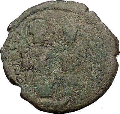 Justin II & Queen Sophia 565AD HUGE Ancient Medieval Byzantine Coin  i32583