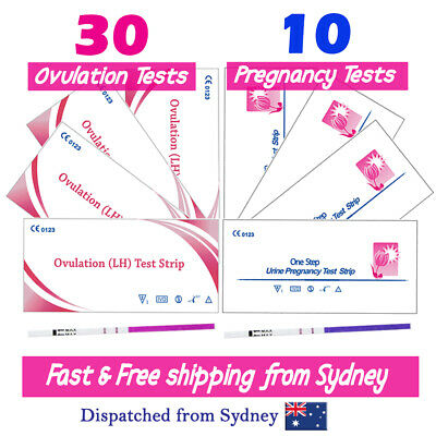 30x Ovulation Tests+10x Pregnancy Tests LH hCG Urine Strips Fertility OPK Kits
