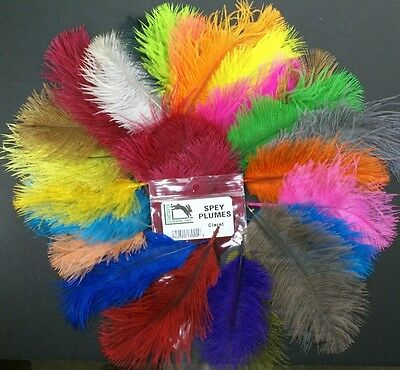 Hareline Dubbin Spey Plumes Ostrich Maribou Craft Art Fly Tying Feathers