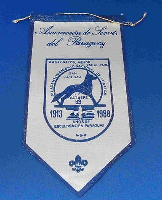 Old Boy Scouts of Paraguay  Banner   1913 - 1988