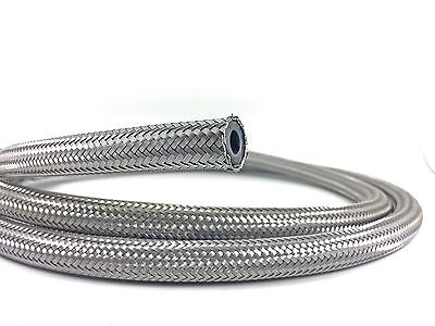 """Braided Fuel Oil Water Hose Stainless Steel 5/8"""", 16mm ID (1M)"""