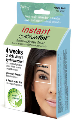 Godefroy instant eyebrow tint kit 6-weeks of rich vibrant color  -  Natural Blk