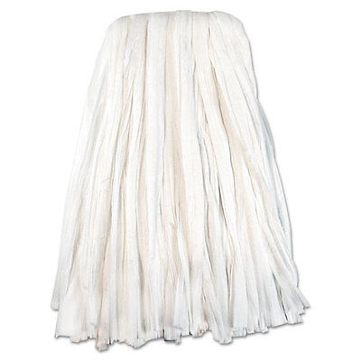 Nonwoven Cut End Edge Mop Heads Rayon Polyester 24 oz White 10 Count Case SBW224