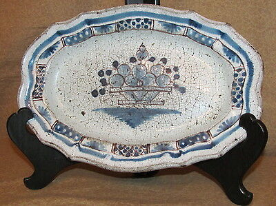 Antique French Ceramic Faiance Small Platter