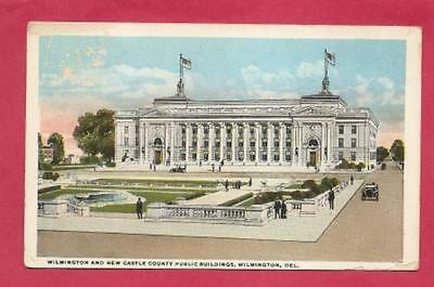 Post Card - DEL - Wilmington and New Castle County Public Buildings.