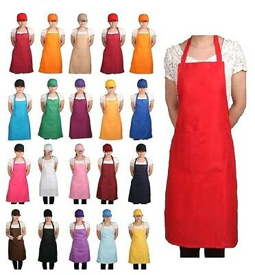 19 Colors-New Unisex Kitchen Cooking Restaurant Bib Apron with Pocket