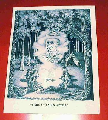 SPIRIT OF BADEN POWELL Print Great Scout Gift or AWARD