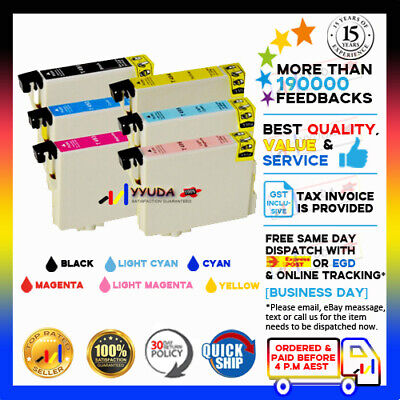 18x GENERIC T0491-6 Ink for Epson Stylus Photo R210 R230 R310 R350 RX510 Printer
