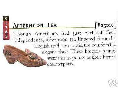 Just The Right Shoe, AFTERNOON TEA, Retired