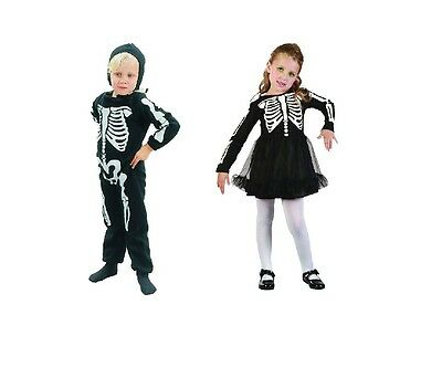 02272aad06c9a Skeleton Toddler #Girl / Boy Halloween Fancy Dress Costume Child 2-4 Years  Old