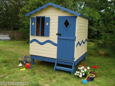 Seaside Beach Hut Playhouse / Summerhouse - Painted / Unpainted