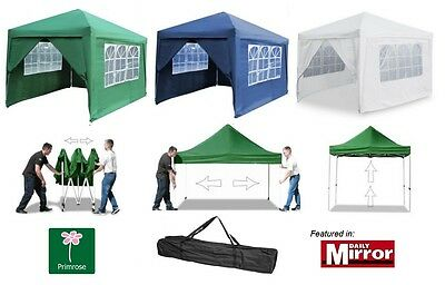 Pop Up Gazebo Marquee Party Tent Garden Canopy Awning Outdoor Waterproof 3m x 3m