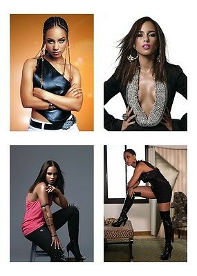 4 ~ Alicia Keys / Alicia Augello Cook 5 x 7 / 5x7 GLOSSY Photo Picture LOT