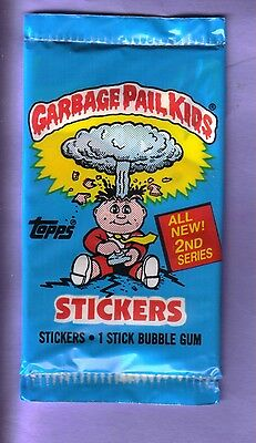 1985 Garbage Pail Kids Original Series 2 UK Unopened Sticker Pack from Box