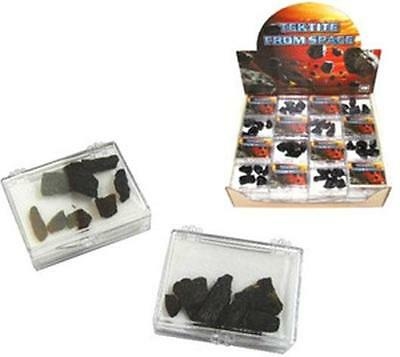 4 pkgs MAGIC TEKTITE MOON ROCKS meteor outer space stones NEW geology lunar rock