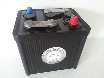 Vintage Car Battery Intact 6 Volt 84 Ah 08411 Schwarz