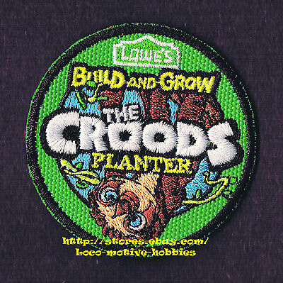 LMH PATCH Badge  2013 CROODS  Planter   LOWES Build Grow Project Kid's Clinic