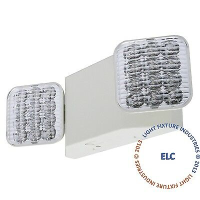 ALL LED Emergency Exit Light - Square Head Case of 6 UL Fire Code Safety - ELW2