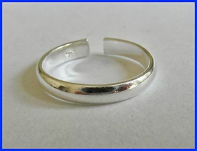 Sterling Silver (925) Adjustable Toe Ring Plain Band !!         Brand New !!