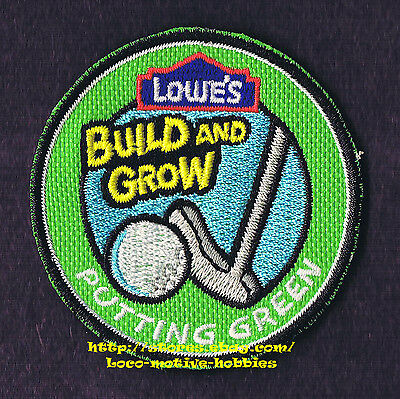 LMH PATCH Badge 2009 PUTTING GREEN Golf Club Putter LOWES Build Grow Kids Clinic