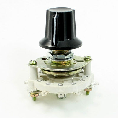 Plastic Knob 2P5T 2 Poles 5 Position Band Channel Rotary Switch