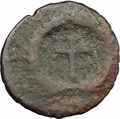 THEODOSIUS II 425AD  Ancient Roman Coin Cross within wreath of success  i32887