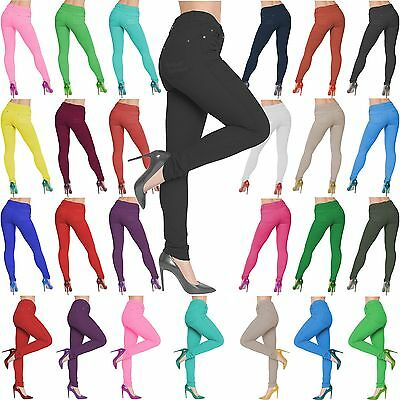 New Ladies Womens Plus Size Coloured Skinny Stretch Jeans Jeggings Leggings 8-26