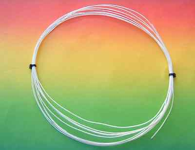 MUNDORF Silber/Gold Draht silvergold wire sgw105wh 0,5mm-1m-PTFE weiss / white