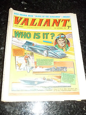 VALIANT Comic - Date 12/09/1970 - UK Fleetway Paper Comic