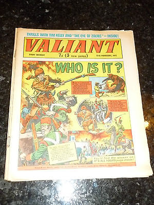 VALIANT Comic - Date 13/02/1971 - UK Fleetway Paper Comic